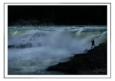"""Stand in Awe,"" Kootenai Falls, Montana"